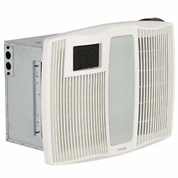 Broan Quiet Ceiling Exhaust Bathroom Fan 110 CFM Light Heater White Ventilations