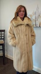 Gorgeous And Timeless Ivory Mink Fur Coat For Evenings Out And Special Events