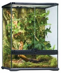 Glass Terrarium Kit Tank Snake Frog Lizard Gecko Chameleon Rainforest Habitat