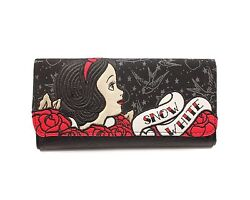DISNEY Snow White Faux Leather Tattoo Flash Embroidered Card Wallet FOR GIRLS