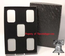 5 Air-tite Direct Fit Capsule Holder And 1/2oz Silver Bar Display Storage Box Case