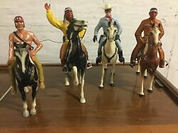 Vintage Marked Hartland-the Lone Ranger - Tonto 1950's And 2 More