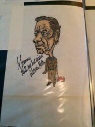 William Holden Signed / Autograph Picture / Drawing 1970's
