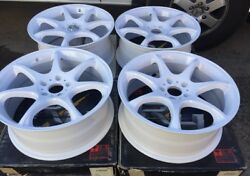 New Racing Hart S7 Evolution 18 X7.5 Et42 5114.3white Set Of 4pcs Made In Japan