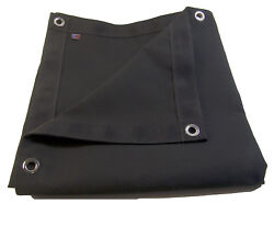 Sunbrella Tarp, Black W/ Reinforced Edging And Nickel Plated Spur Grommets 3' X 4'