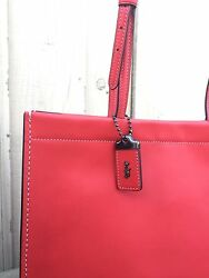 Disney X Coach_ red skinny tote in glovetanned leather_limited edition