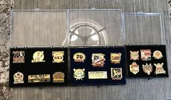 Lot Of 3 Mark Mcgwire Collector Pin Sets St Louis Cardinals In Cases 2 Le. 16