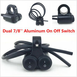 7/8and039and039motorcycle Handlebar H/l Beam Headlight Spot Light On Off Switch Waterproof
