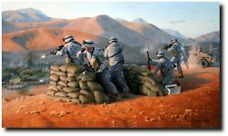 Warriors Fight 2-4 In Afghanistan A/p By Larry Selman - Military Art Prints