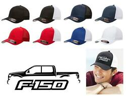 2015 2016 2017 2018 Ford F150 Pickup Truck Classic Color Outline Design Hat Cap