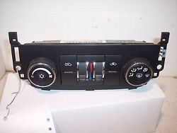 2009 CHEVROLET IMPALA  DUAL ZONE  AC AC HEATER CLIMATE CONTROL  non-heated seat