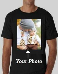 Create Your Custom Personalize Black T-Shirt Photo Youth Adult Men Women S - XL