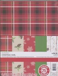 8.5x11 Printed Cardstock Paper Pack - Pinecone Lodge - 25 Sheets