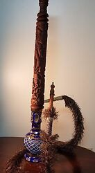 Buzzz Antic Wooden Carved Hookah Extrahigh-details 0009