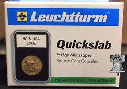 5 Lighthouse Quickslab Coin Holder 37mm Mexican 50 Gold Peso Graded Slab Case