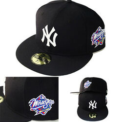 New Era MLB New York Yankees 5950 Fitted Hat 1998 World series Side Patch Cap $38.99