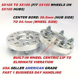 2pcs 5x105 To 5x100 Conversion Wheel Adapters Spacers | 12x1.5 | 25mm 1 Inch