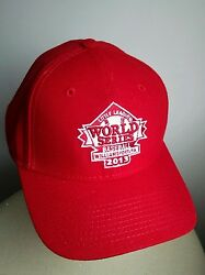 Little League World Series 2013 Red Baseball Hat Cap Adjustable Emroidered Patch