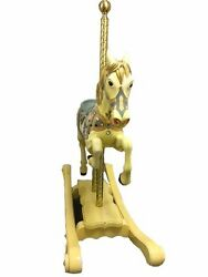 Antique-Carousel-Horse-Full-Sized-Pole-Jumper once owned by Liz Todd Taylor