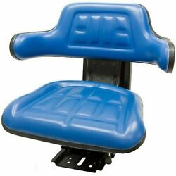 Blue Tractor Suspension Seat Fits Ford / New Holland 6600 6610 7000 7600 7610