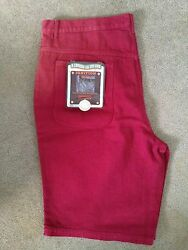 New 'Ignition Citiwide' Jean Shorts. Burgundy Color. Size 46. New with Tags.