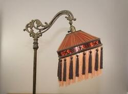 Bridge Floor Lamp Shade Victorian Pleated And Fringed Tailor Made Lampshades Brown