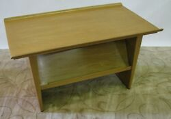 Rare Ed Wormley For Dunbar Side Table And Magazine Rack With Rolled Edge Top