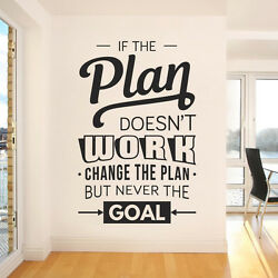 If The Plan Doesn't Work, Change The Plan, But Never The Goal - Company Offic...