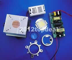 100w Uv Led Chip +led Driver+cooling Heatsink+ Lens With Reflector Collimator