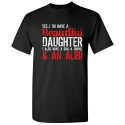 Gun Alibi Sarcastic Cool Adult Parental Graphic Gift Idea Humor Funny T Shirt $14.44