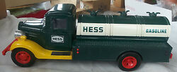 Hess Gasoline Truck Ertl 1980 Bank Great Condition In Case Lights Up