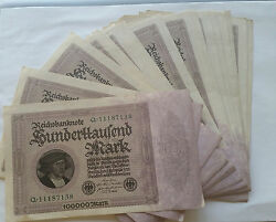 🇩🇪 German Reichabanknote 1000000 Marks Antique 1923 Paper Currency.