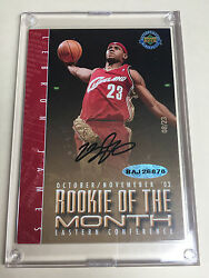 *RARE*200304 upper deck Lebron James Rookie  Auto # 0823 RC of the month