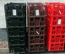 6 X Beer/milk Crates New Hold 20 X 500ml Bottles Ideal For Homebrew Storage