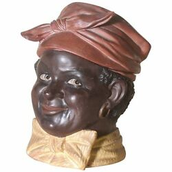 Rare Bloch African Americana Figural Tobacco Jar Humidor Signed Dated 1908