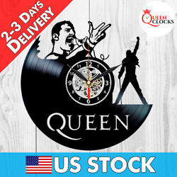 Queen Freddie Mercury LP Vinyl Record Wall Clock Best Decor Music Rock Gifts Art