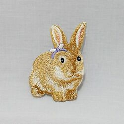 Cute rabbit embroidered DIY crafts Iron on patch sew on Clothes decorate