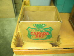 Card Board Canada Dry Bottle Case Pittsburgh Pa W/wire Frame - Make Offers