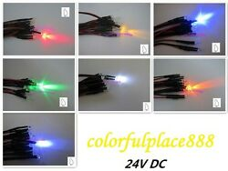 3mm 24v Candle Flicker Pre-wired Red Yellow Blue Green White Orange Uv Led 20cm