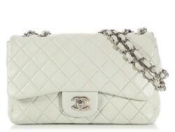 CHANEL Pastel Green Jumbo Classic Single Flap Bag ~ Puffier quilted lambskin!