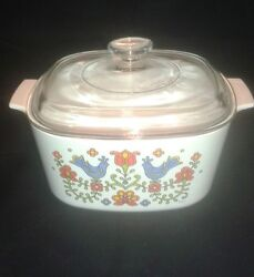 Corning Corelle Country Festival Covered Casserole A-3-b / Lid A-9-c