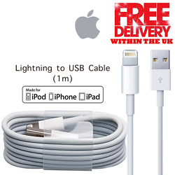 New Genuine Apple Ipad Iphone 5 6 7 + Charger Lightning To Usb Cable 1 Meter