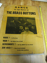 The Brass Buttons Band 1960s Roch. Ny Plattsburgh College Music Poster