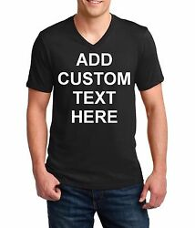 Men's V-neck Custom Personalized T Shirts Your Own Text Business Name T-Shirt
