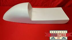 Deep Fastback Style Fibreglass Cafe Racer Seat Finished In White