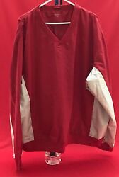 Windshirt Golf Red With Beige Sleeves And Side Insets Acuity Polyester Xxl