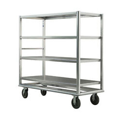 New Age 98182 Queen Mary Banquet Cart W/ 2500 Lb Capacity And 4 Open Shelves