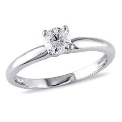 Amour 1/2 Ct Tw Diamond Solitaire Ring In 14k White Gold