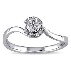 Amour 1/4 Ct Diamond Tw Engagement Ring In 14k White Gold