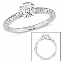 Amour 5/8 Ct Tw Diamond Raised Engagement Ring In 14k White Gold